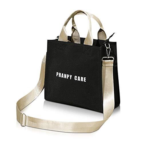 SONARIN Petit sac à main à langer léger pour bébé,Sac à bandoulière, Sac à couches avec sangle de poussette, convient pour les courts trajets, grande capacité, étanche(Noir)