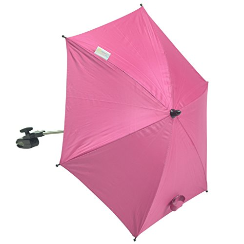For-Your-Little-Sonnenschirm kompatibel mit Teutonia Regenpelerine Team Cosmo Twin, Hot Pink