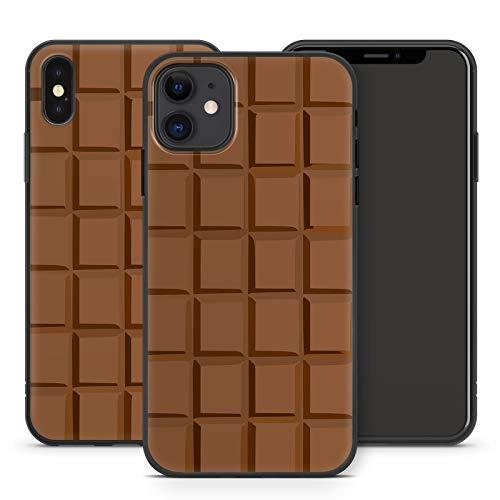Handyhülle Cupcake für Apple iPhone Silikon MMM Berlin Hülle Donut Schokolade Lolli Simpson Bonbon, Kompatibel mit Handy:Apple iPhone 7, Hüllendesign:Design 6 | Silikon Schwarz