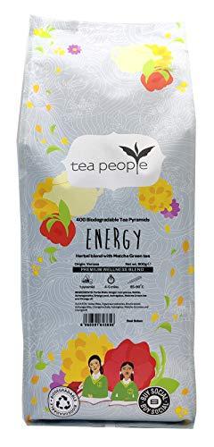 Tea People Energy, 400 Herbal Tea Pyramids in A Large Catering Pack, 1 kg