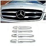 Se adapta a 2010 – 2014 para Mercedes VITO W639 manija de puerta cromada y parrilla frontal cromada acero S.Steel