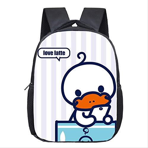 3D Tier Rucksack, Platypus Cartoon Mode Rucksack Schultertasche, Große Kapazität Dekompression Sporttasche, Für Teenager Mädchen Jungen purpurn
