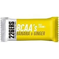 226ERS Endurance Fuel Bar BCAAs, Barrita de Resistencia y Energía Sin Gluten con Vitaminas, Plátano & Jengibre - 24 barras