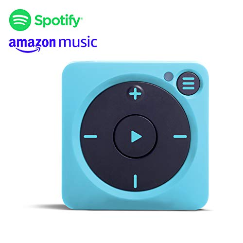 Mighty Vibe Spotify en Amazon Music Player - Gully Blue - Sports Clip, voor Bluetooth en bekabelde oortelefoons - Streaming MP3-speler - Geen behoefte aan uw telefoon