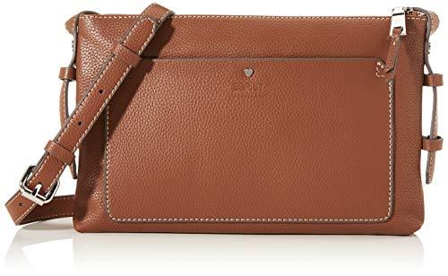Esprit Accessoires Damen Wb_nell Smllshl Umhängetasche, Braun (Rust Brown), 2,5x18x28 cm