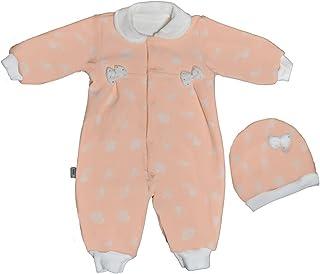 Baby Shoora botanical fibers baby bodysuit & hat for girls simon-3-6Month