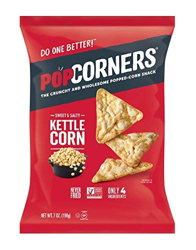 PopCorners Kettle Corn Snack | Gluten Free, Vegan Snack | (12 Pack, 7 oz Snack Bags)-SET OF 3