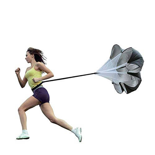 Longsing Resistance Running Umbrella Speed Training Resistance Soccer Training Weight Bearing Fitness Parachute for Improving Speed, Stamina, Strength and Accelleration(schwarz)