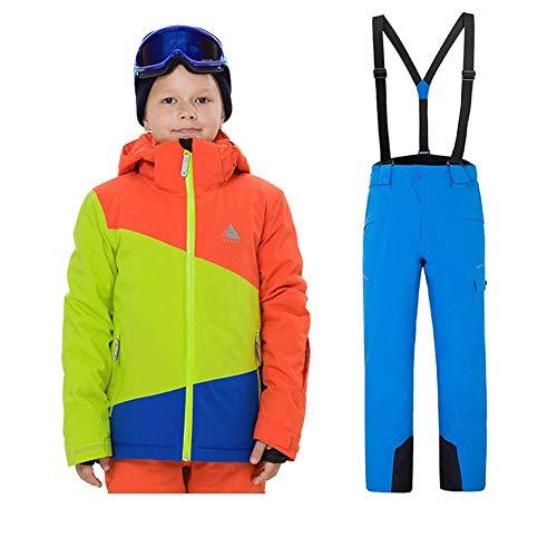 Z&X Jongens en Meisjes Ski Jas Broek Waterdichte Winddichte Sneeuw Jas Geïsoleerde Sneeuwpak, Ski Beschermend Gear, Jas pak