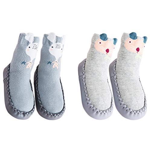 Calcetines de Disney en 2 Tamaños para las edades 0-2 años del Bebé Calcetines Suaves Niños Calcetines del Bebé