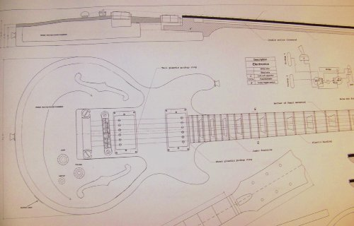 Gibson Les Paul Double Cutaway Guitar Plans - Modified to Be a Jazz Guitar