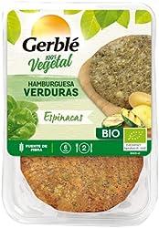 Gerblé Bio - Hamburguesa Verdura Espinacas, 2 x 190 g