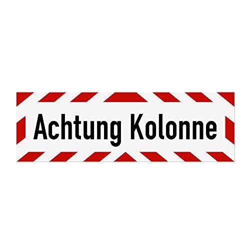 LOHOFOL Magnetschild Achtung Kolonne | Schild magnetisch | lieferbar in DREI Größen (65 x 20 cm)