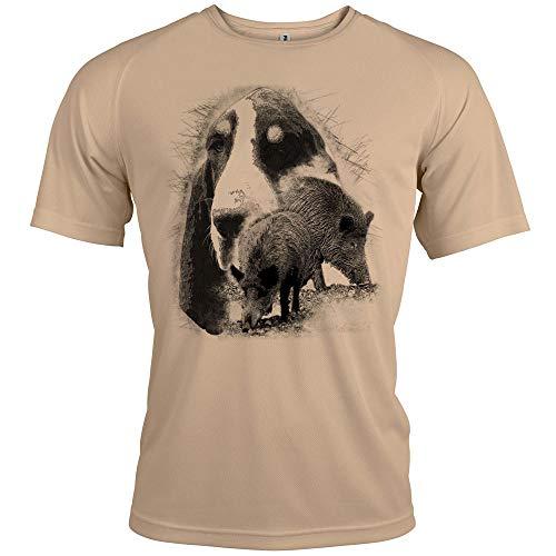 Pets-easy - Camiseta del cazador con texto personalizado