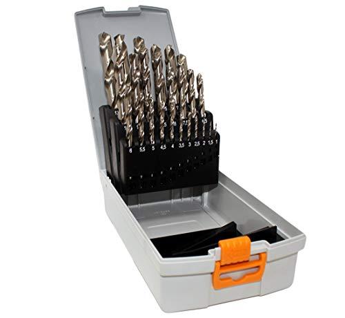 Hawera Bohrer Set HSS-G 25-teilig 1-13 mm 0,5 mm steigend in Kunststoffbox