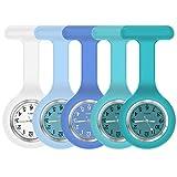 Nurse Watch,Nurse Watch Clip On,Nursing Watch,Clip Watches, Watch with Second Hand,Nurse Watch Nurse Gifts (White to Blue)