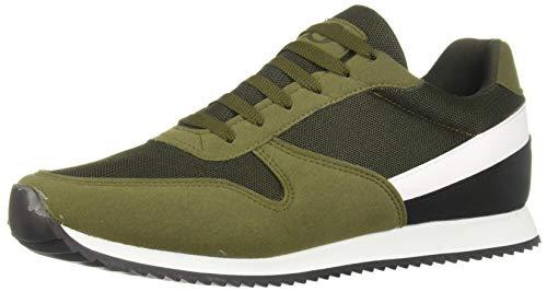 cklass 046-17 Tenis Sneakers Casual Urbano Hombre Color Verde Militar Talla: 28
