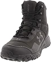 Under Armour Men's Valsetz RTS 1.5 Side Zip Military and Tactical Boot, Black (001)/Black, 12