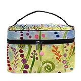 Paintings - Bolsa de maquillaje con diseño de mariposas, diseño de mariquita, ideal para viajes, bolsa de maquillaje, organizador de maquillaje, con cremallera, para mujeres y niñas