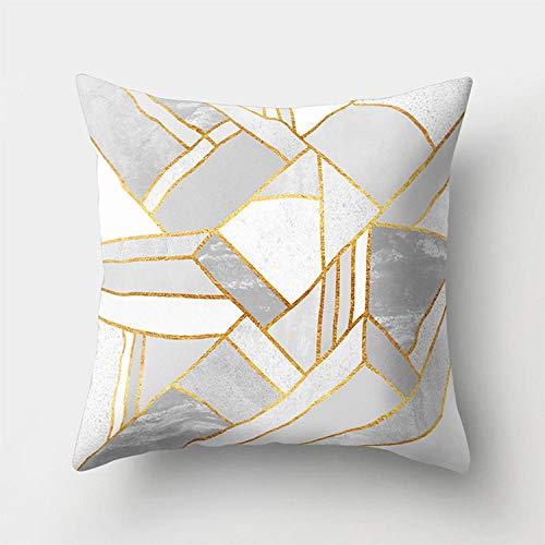 Cojines Funda de cojín con Estampado de mármol geométrico nórdico Funda de cojín para sofá de Coche Interior Fundas de Almohada para sillones de 45 × 45 cm con núcleo de Almohada