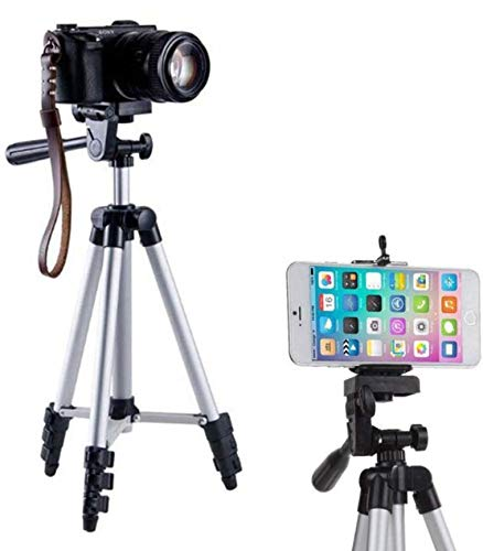 DIGIANT 50 Inch Aluminum Camera Phone Tripod+ Universal Tripod Smartphone Mount for Apple, iPhone Samsung and Other Brands Smartphones+Carrying Bag