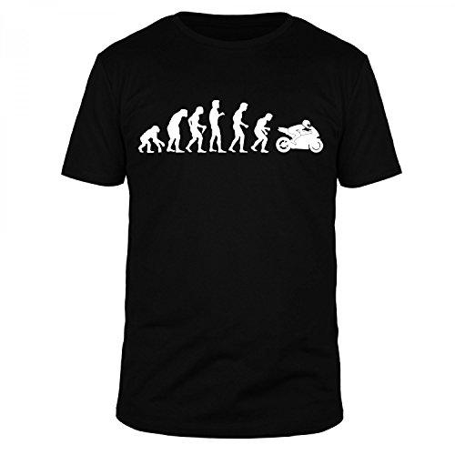 FABTEE - Evolution Motorrad Motorbike Race Bike Organic T-Shirt Herren - Größen M-5XL, Größe:M, Farbe:Schwarz