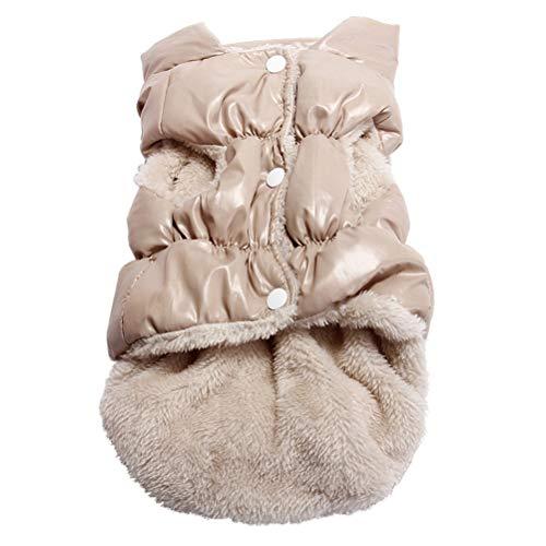 SODSIM Hundemantel für Kleine Hunde Winter Hundejacke Warm Hundeweste Fleece Hundebekleidung Gefütterte