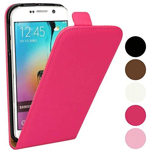 Roar Handy Hülle für Sony Xperia Z3 Compact Handyhülle Flipcase Tasche Schutzhülle Handytasche [Business PU Leder Flip Case mit Magnetverschluss] - Pink