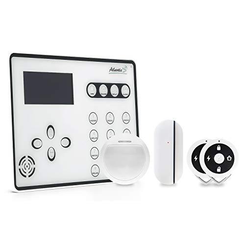Atlantic's - Allarme domestico senza fili GSM AtEOS Kit 1, colore: Bianco