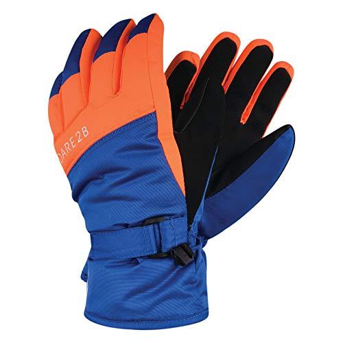 Dare 2b Jungen Brainwave Beanie Fleece Lined Knitted Character Hat Handschuhe, Oxford Blue/Vibrant Orange, 8-10