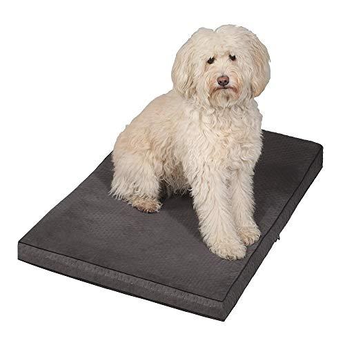 HOGACA Gelenkschonender orthopädischer Hundekorb Hundebett Hundekissen Hundeliegeplatz Schlafplatz XXL groß grau Ortho VISKOELASTIK Memory Effekt Schaumstoff schadstofffrei