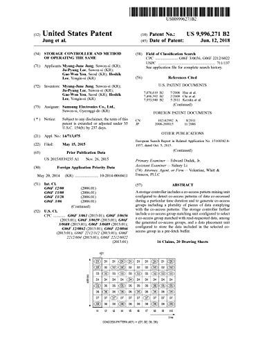 Storage controller and method of operating the same: United States Patent 9996271 (English Edition)