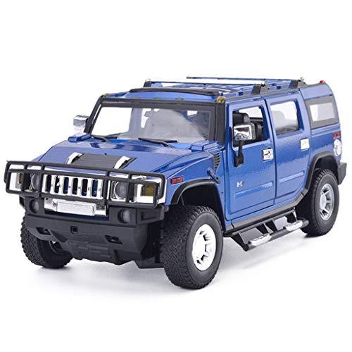 HTDZDX Hummer Model Car H2 vehículo Todoterreno 1:18 simulación de aleación de Juguete estático Modelo de Coche colección Adornos (Color : Blue)