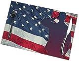 Grazie Soldier Memorial Day Independence Day Th Of July Set Di Tovagliette Con Bandiera Americana Set Di Tovagliette Antiscivolo Resistenti Al Calore 30 Cm X 45 Cm (12 Pollici X 18 Pollici) 6 Pezzi