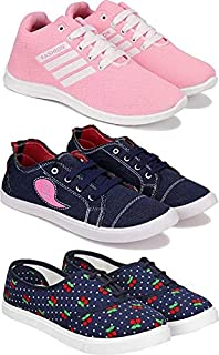 Shoefly Women's (763-5054-11029) Multicolor Casual Sports Running (Set of 3 Pair)