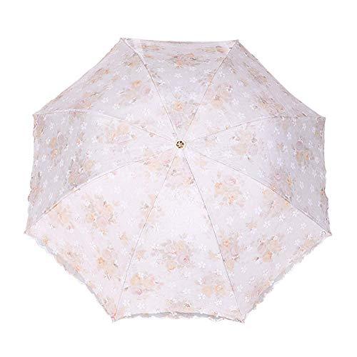 paraplu vouwen paraplu's dubbele bloem paraplu voor vrouwen zonnebrandcrème vouwen prinses paraplu waterdichte versieren kant parasol
