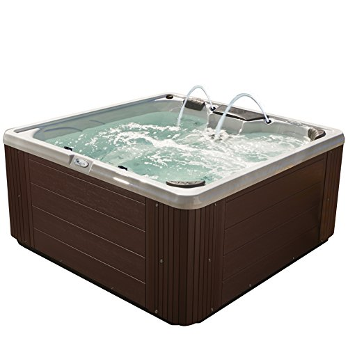 Essential Hot Tubs 30-Jets 2021 Adelaide Hot Tub, Seats 5-6, Espresso