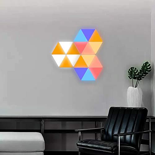 JAKROO LED Intelligente modulare Beleuchtung Vielzahl von Formen Spleißen Licht bewegt Sich mit Musik für Zuhause Flur Büro Hotel Bar Festliches Geschenk