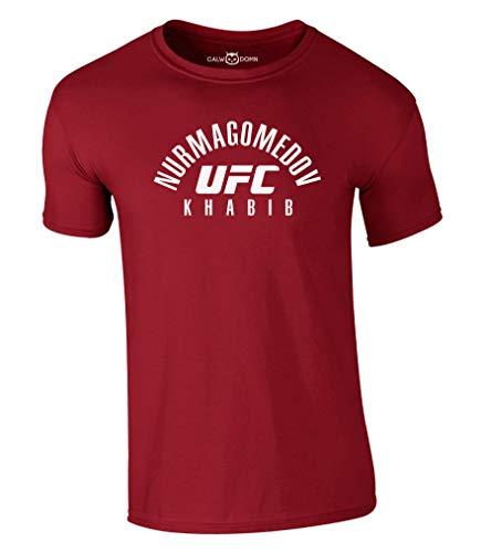 Khabib Nurmagomedov T-Shirt UFC MMA Fighting Shirt Russia Gym Conor (XL, Rot)