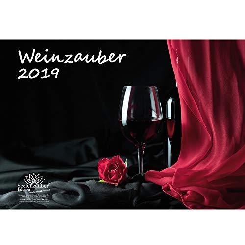 Wijnmagie · DIN A3 · Premium kalender 2019 · wijn · wijngoed · rode wijn · witte wijn · Frankrijk · Italië · Oostenrijk · Zwitserland · Cadeauset 1 Wenskaart 1 Kerstkaart · Edition Zelmagie