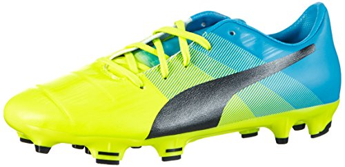 Puma Unisex EvoPower 1.3 FG Jr Fußballschuhe, Gelb (Safety Yellow-Black-Atomic Blue 01), 38 EU