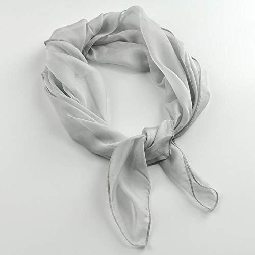 UW LEVEN Zijde Sjaal Sjaal ronde vrouwelijke effen gekleurde zijde kleine vierkante sjaal lichtgrijze bekleding sjaal moerbei zijde kleine kinderen.