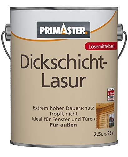 Primaster Dickschichtlasur SF1105 Holzlasur Holzfarbe Wandfarbe Außenlasur Lasur