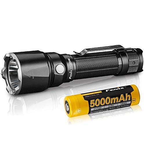 FENIX Unisex-Adult Tactical Flashlight TK22 UE LED Taschenlampe 1600 Lumen, Black, small