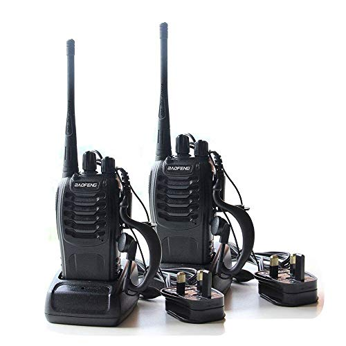 QITAO Walkie Talkies 888S 16CH Signal Band Two Way Radio Rechargeable Long...