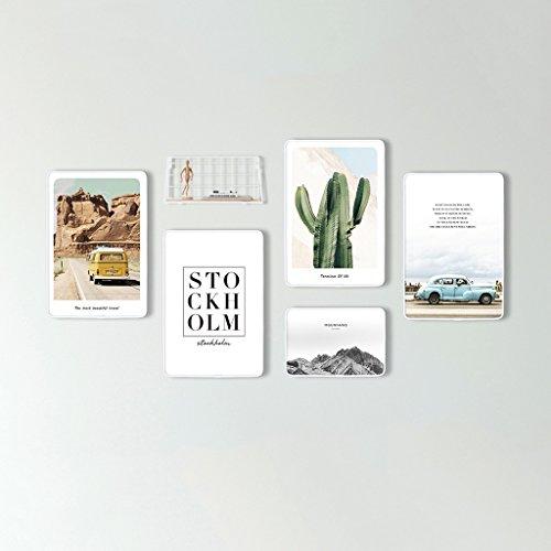 Ensemble de cadres photo, 5 Set Picture Frames Collage, combinaison créative avec horloge murale (Couleur : A)
