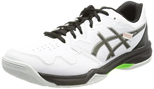 ASICS Gel-Dedicate 7, Scarpe da Tennis Uomo, White/Gunmetal, 41.5 EU