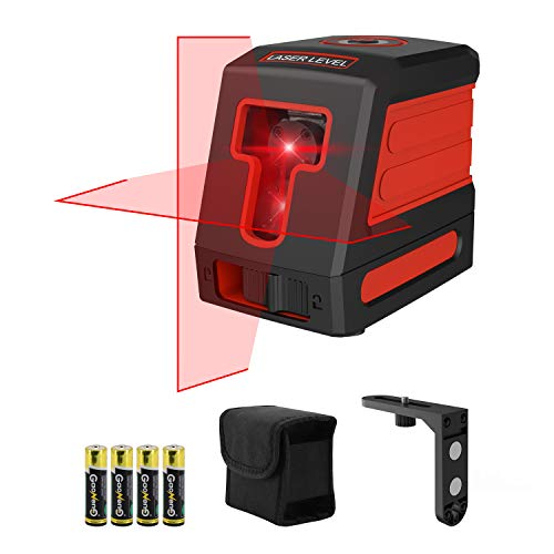 Klearlook Laser Level with Dual ModulesSelfLeveling Vertical and Horizontal Laser LevelerMagnetic BaseCarrying Pouch4AA Batteries Included