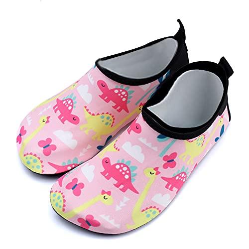 Gogokids Zapatos de agua para niños y niñas, para la playa, piscina, descalzo, ligeros, para 3-9 años, color Amarillo, talla 31 EU