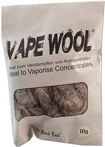 Black Leaf Vape Wool 10g Beutel degummierte Hanffasern + Fight-Button